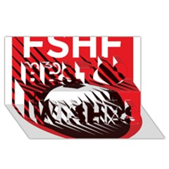 Crest Of The Albanian National Football Team Best Wish 3d Greeting Card (8x4)