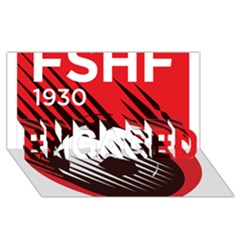Crest Of The Albanian National Football Team Engaged 3d Greeting Card (8x4)