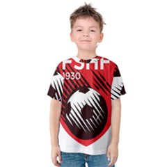 Crest Of The Albanian National Football Team Kid s Cotton Tee