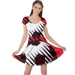 Crest Of The Albanian National Football Team Cap Sleeve Dresses