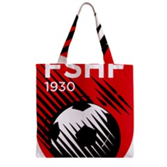 Crest Of The Albanian National Football Team Zipper Grocery Tote Bag