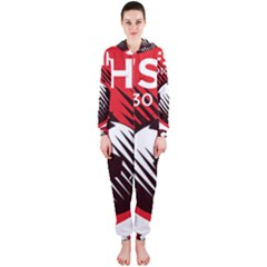 Crest Of The Albanian National Football Team Hooded Jumpsuit (ladies)