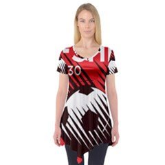 Crest Of The Albanian National Football Team Short Sleeve Tunic