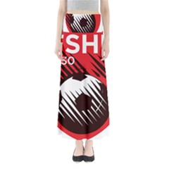 Crest Of The Albanian National Football Team Maxi Skirts