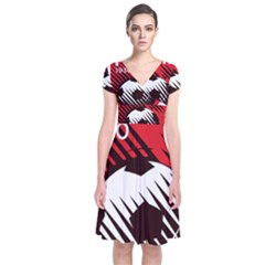 Crest Of The Albanian National Football Team Short Sleeve Front Wrap Dress