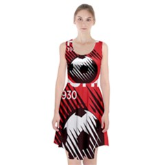 Crest Of The Albanian National Football Team Racerback Midi Dress