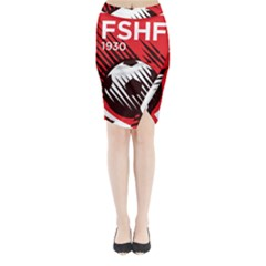 Crest Of The Albanian National Football Team Midi Wrap Pencil Skirt