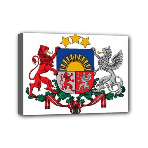 Coat Of Arms Of Latvia Mini Canvas 7  X 5
