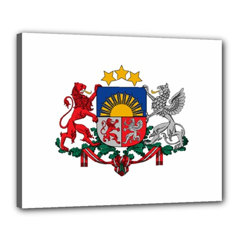 Coat Of Arms Of Latvia Canvas 20  X 16