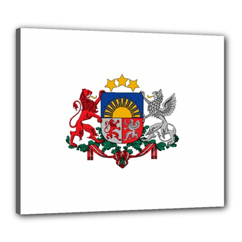 Coat Of Arms Of Latvia Canvas 24  X 20