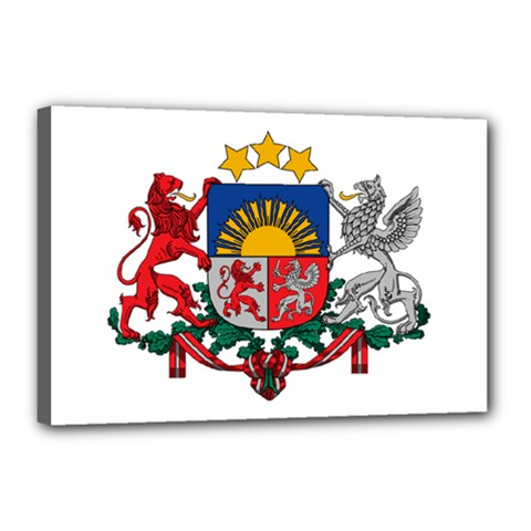 Coat Of Arms Of Latvia Canvas 18  X 12