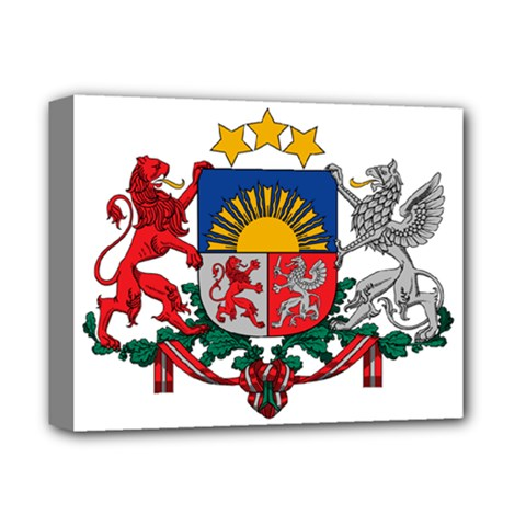 Coat Of Arms Of Latvia Deluxe Canvas 14  X 11