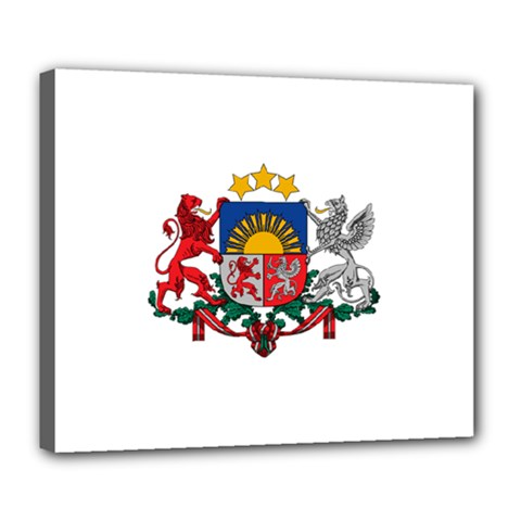 Coat Of Arms Of Latvia Deluxe Canvas 24  X 20