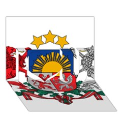 Coat Of Arms Of Latvia I Love You 3d Greeting Card (7x5)