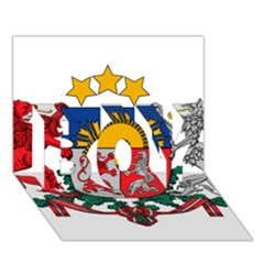 Coat Of Arms Of Latvia Boy 3d Greeting Card (7x5)
