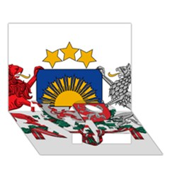 Coat Of Arms Of Latvia Love Bottom 3d Greeting Card (7x5)