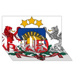 Coat Of Arms Of Latvia Believe 3d Greeting Card (8x4)