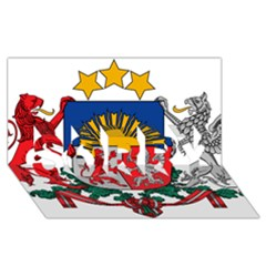 Coat Of Arms Of Latvia Sorry 3d Greeting Card (8x4)