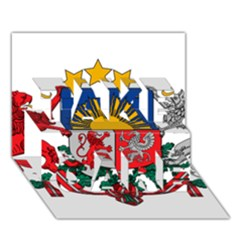 Coat Of Arms Of Latvia Take Care 3d Greeting Card (7x5)