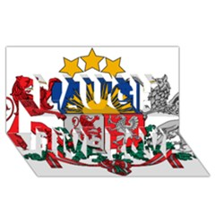 Coat Of Arms Of Latvia Laugh Live Love 3d Greeting Card (8x4)