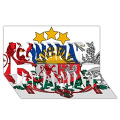 Coat Of Arms Of Latvia Congrats Graduate 3d Greeting Card (8x4)