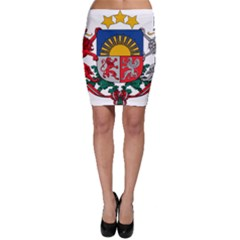 Coat Of Arms Of Latvia Bodycon Skirt
