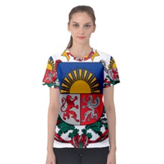Coat Of Arms Of Latvia Women s Sport Mesh Tee