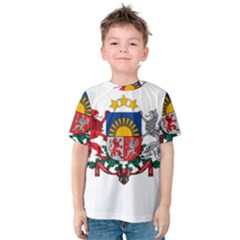 Coat Of Arms Of Latvia Kid s Cotton Tee