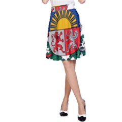 Coat Of Arms Of Latvia A Line Skirt