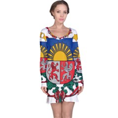 Coat Of Arms Of Latvia Long Sleeve Nightdress