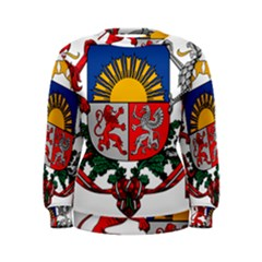Coat Of Arms Of Latvia Women s Sweatshirt