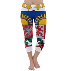 Coat Of Arms Of Latvia Capri Winter Leggings
