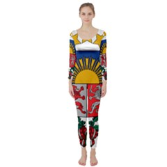 Coat Of Arms Of Latvia Long Sleeve Catsuit