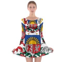 Coat Of Arms Of Latvia Long Sleeve Skater Dress