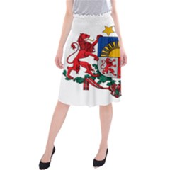 Coat Of Arms Of Latvia Midi Beach Skirt