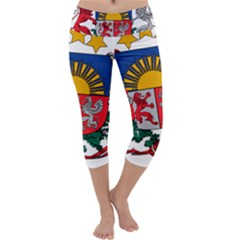 Coat Of Arms Of Latvia Capri Yoga Leggings