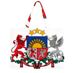 Coat Of Arms Of Latvia Large Tote Bag