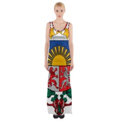 Coat Of Arms Of Latvia Maxi Thigh Split Dress