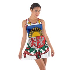 Coat Of Arms Of Latvia Cotton Racerback Dress