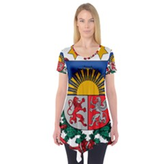 Coat Of Arms Of Latvia Short Sleeve Tunic