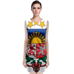 Coat Of Arms Of Latvia Classic Sleeveless Midi Dress