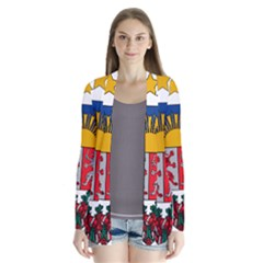 Coat Of Arms Of Latvia Drape Collar Cardigan