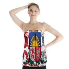 Coat Of Arms Of Latvia Strapless Top