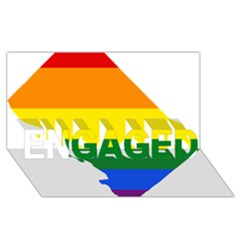 Lgbt Flag Map Of Washington, D C Engaged 3d Greeting Card (8x4)