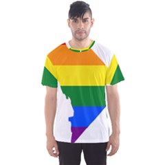 Lgbt Flag Map Of Washington, D C Men s Sport Mesh Tee