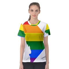 Lgbt Flag Map Of Washington, D C Women s Sport Mesh Tee