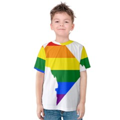 Lgbt Flag Map Of Washington, D C Kid s Cotton Tee