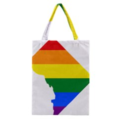 Lgbt Flag Map Of Washington, D C Classic Tote Bag