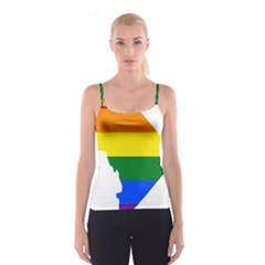 Lgbt Flag Map Of Washington, D C Spaghetti Strap Top