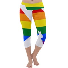 Lgbt Flag Map Of Washington, D C Capri Yoga Leggings